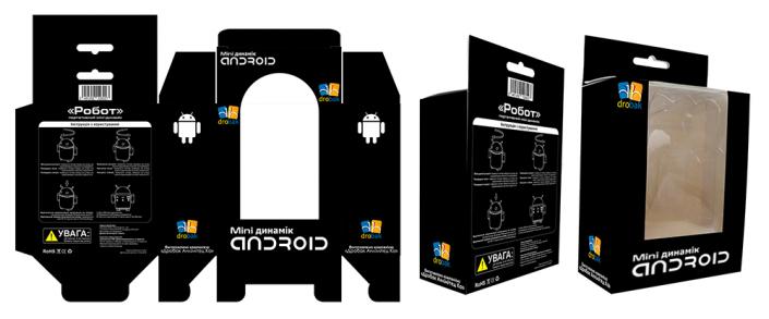"Упаковка черная ""Мини-динамик ANDROID"" Drobak"