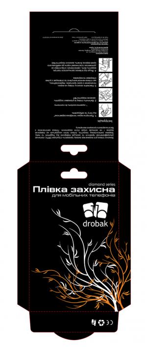 "Упаковка ""Защитная пленка"" Drobak тиснение золото/серебро"